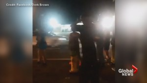 Car runs down Ferguson demonstrator as gun fire rings out